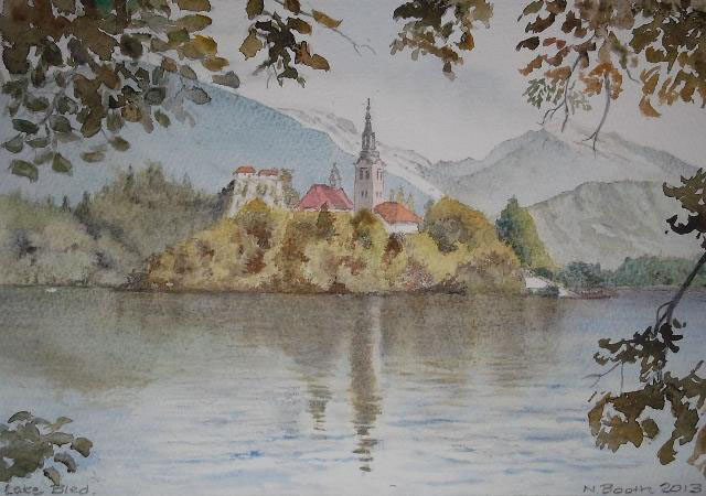 Lake Bled, painted 2013