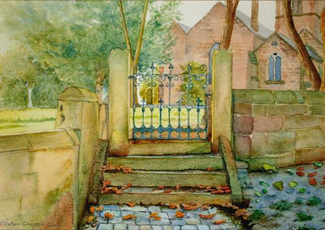 Flixton Church Gate, painted 2007