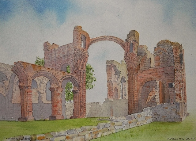 Furness Abbey, painted 2017