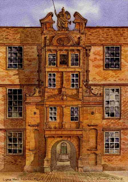 Lyme Hall North Front, painted 2003
