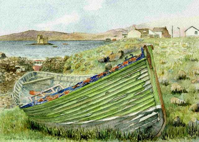 Old Boat, Isle of Barra, painted 2008