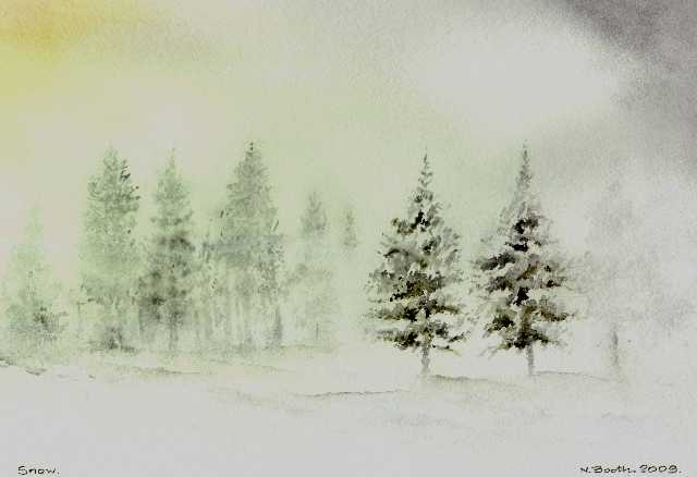 Snow, painted 2009