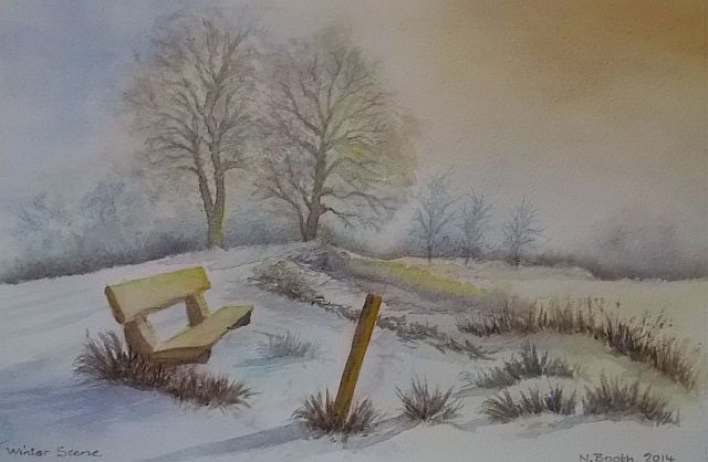 Winter Scene, painted 2014